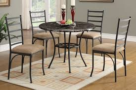 Round marble top dining table set Marble Effect Amazonprimevideoinfo Hughes 5pc Round Marble Top Dining Table Set