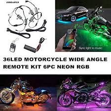 Delightful Auto Motorrad Unterbodenbeleuchtung 6 Streifen 18 Farbige RGB LED  Beleuchtung Sundgesteuerte Neonlicht Kit Mit