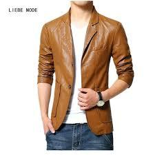 suede jackets mens whole brand male leather jacket men brown black plus size coats trend slim