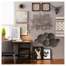 charming idea metal wall decor target carved wood 54 99 30x30 living room