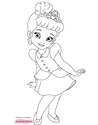 powerful baby princess coloring pages belle color bros
