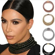 2019 star same design kim kardashian collar choker necklaces for women statement jewelry maxi necklaces boho accessories 2017 summer girl jewelry from