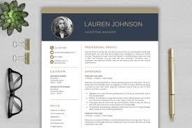 Modern Resume Infographics Modern Resume Template Cv With Cover Letter