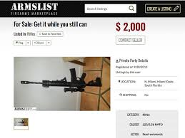 Armslist A Craigslist For Guns Semi Automatics Without A