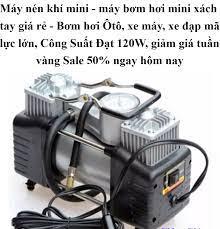 ⭐Máy nén khí mini - máy bơm hơi mini xách tay giá rẻ - Bơm hơi Ôtô