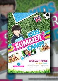 Kids Summer Camp Flyer Template On Templates C11 Game For Google Slides