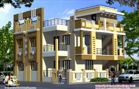 indian house designs double floor interior design