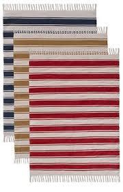 Kohima cotton woven stripe rug