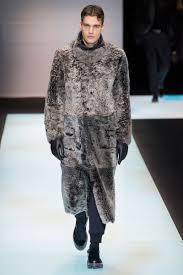 a faux fur coat from giorgio armani s fall winter 2016 men s collection