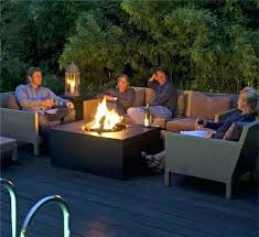 gas fire pit on wood deck deck gas fire pit dark wood deck with rectangle granite