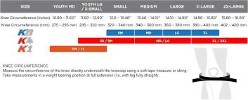 Pod Size Chart Pod K1 Youth Knee Braces
