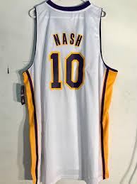 Nba Swingman Size Chart Adidas Swingman Nba Jersey Lakers Steve Nash White Alternate Sz 3x Ebay