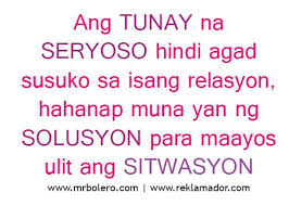 Tagalog Love Quotes Interesting Best Tagalog Love Quotes Relasyon Problem Quotes Anything Tags