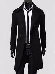 men s slim stylish trench coat winter long jacket double ted overcoat new