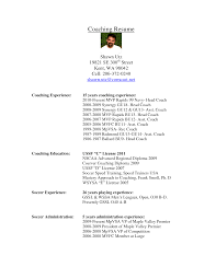 Soccer Coach Resume Example Ideas Collection Soccer Coach Resume Objective Soccer Coach Resume 14