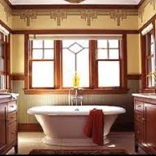 a naturalistic look prevailed in craftsman style homes built from 1905 to bathrooms often featured clean lined fixtures and boxy built ins