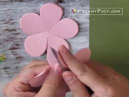 Paper Flower Making Video Easy Tutorial To Make A Paper Rose Free Template