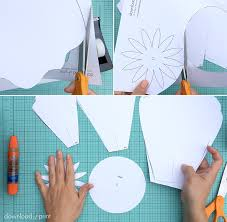 Paper Flower Template Pdf How To Make Giant Paper Roses Plus A Free Petal Template