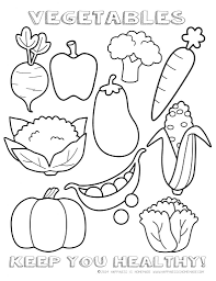 Small Picture Fresh Vegetable Coloring Pages 69 On Seasonal Colouring Pages with