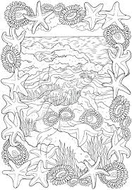 Coloring Pages Starfish Mandala Coloring Pages Page Cute Printable