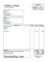 Free Invoice Templetes Stunning Labor Invoice Template Time Materials Contract Excel Invoices