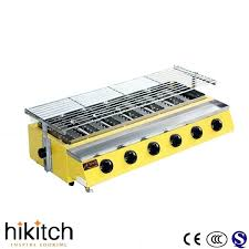 commercial stainless steel smokeless gas bbq countertop grill with countertop gas grill gas cooktop grill module