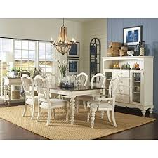 hilale pine island 7 pc dining set with wheat back chairs
