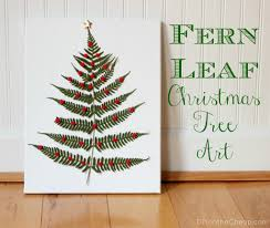 Christmas Wall Art Leaves Totally Green Crafts