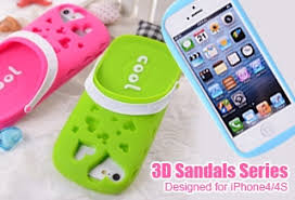 iphone 4 cases for girls. sandals series 3d cute soft silicone iphone4/4s case-orange iphone 4 cases for girls
