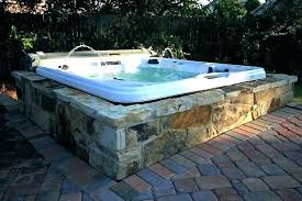 diy jacuzzi bathtub lovely hot tub surround ideas with additional enclosure plans heater tub install the