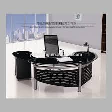 circular office desks. Table Glamorous Semi Circle Desk 4 Exquisite Glass Office Furniture Commercial Executive Kitchen Circular Desks