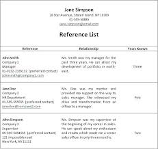 References For A Resume Resumes With References Resume References Inspiration How To List References On A Resume