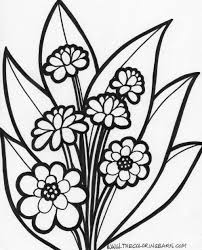 free coloring pages of large flowers beautiful awesome flower coloring to print heart and pics for