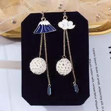 <b>S925 silver needle</b> long <b>asymmetrical</b> girl crystal earrings   Shopee ...