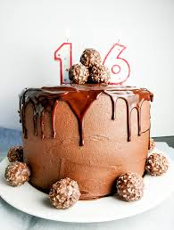 Chocolate Birthday Cake With Nutella Buttercream Frosting On The