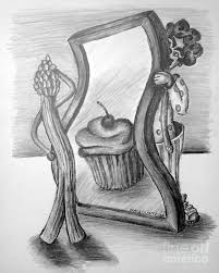 looking in mirror different reflection drawing. mirror drawing - this is the not so fun house by tracy glantz looking in different reflection e