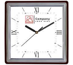 quartz plastic square shape wall clock