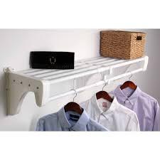 ez shelf 40 75 expandable closet shelf and rod white 2 end brackets com