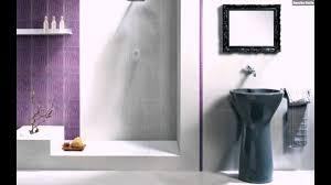 Lila Weiß Badezimmer Fliesen Waschbecken Design Youtube