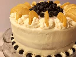 Lemon Blueberry Cake With Lemon Cream Cheese Frosting Chew On This