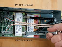 strip and connect the wires from this cable to the appropriate terminals in the arrestor and the junction box
