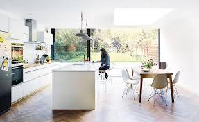 dining room flooring options uk. open plan kithen diner with parquet flooring dining room options uk