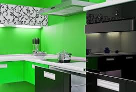 green black mesmerizing: lime green and black mesmerizing kitchen design idea