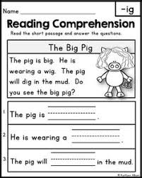 1000+ ideas about Kindergarten Reading on Pinterest | Blending ...Reading Comprehension Passages - Word Families