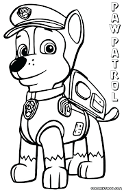 Extraordinary Inspiration Pawpatrol Coloring Pages Chase Paw Patrol