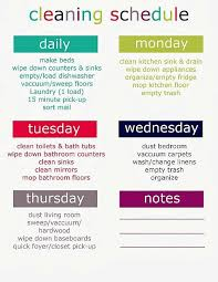 Weekly House Cleaning Chart Printable Cleaning Schedule Weekly Daily Uncommondesigns