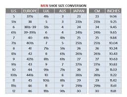 American Foot Size Chart Most Popular American Mens Shoe Size Chart Foot Size Chart