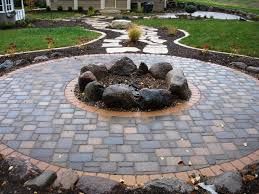 diy patio with fire pit. Diy Patio Stones With Fire Pit