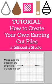 diy design tutorial 5 types of faux leather earring cut files in silhouette studio for