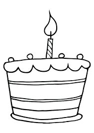 Coloring Page Of A Birthday Cake Birthday Cake Coloring Page Pages